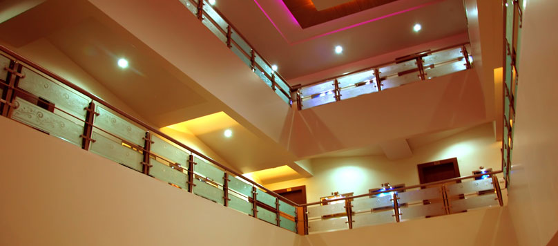 Hotel Merit in Surat has multiple floors which looks elegent at night time